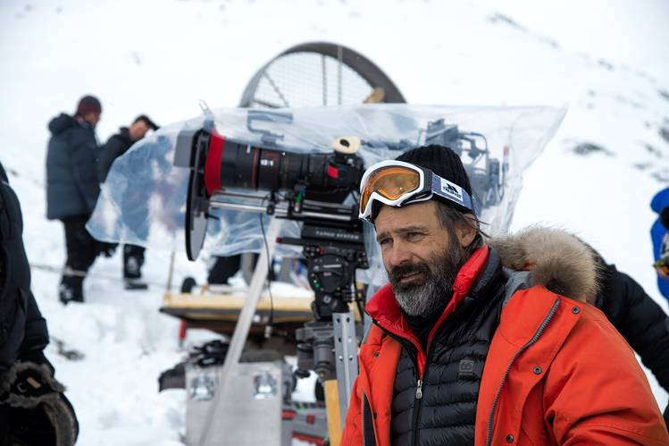 Director and producer Baltasar Kormákur on the set of 'Everest'